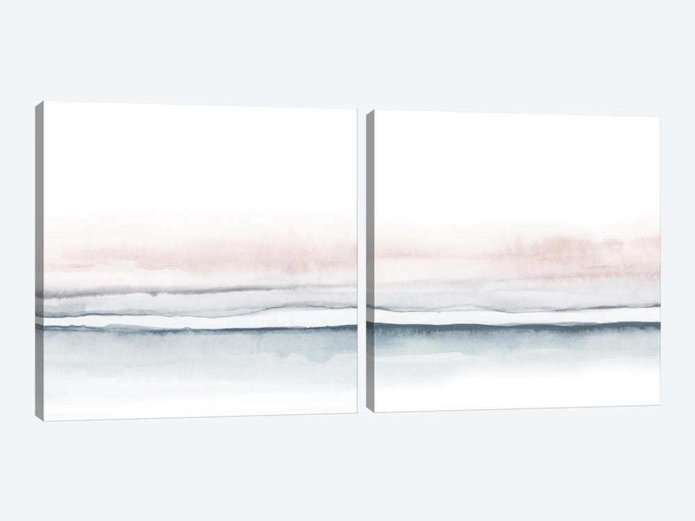 Watercolor Landscape Diptych by Nouveau Prints 2-piece Canvas Artwork