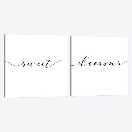 Sweet Dreams Diptych  Canvas Print Set #NUV2HSET002} by Nouveau Prints Canvas Artwork