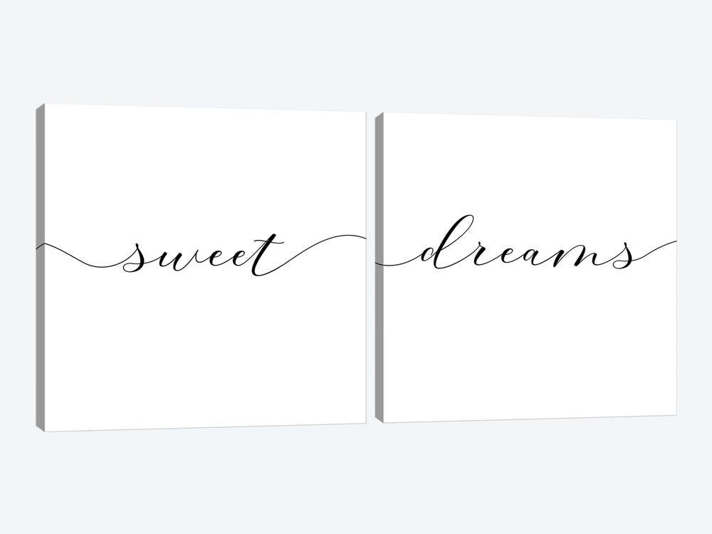 Sweet Dreams Diptych  by Nouveau Prints 2-piece Canvas Art Print