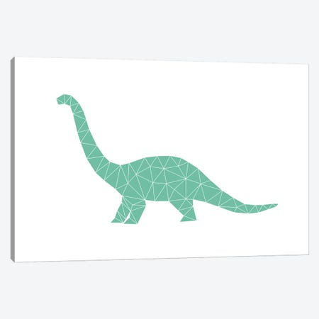 Geometric Dino Diplodocus Canvas Print #NUV33} by Nouveau Prints Canvas Artwork