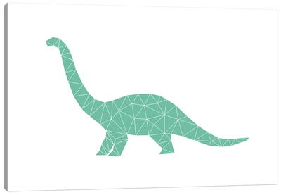 Geometric Dino Diplodocus Canvas Art Print