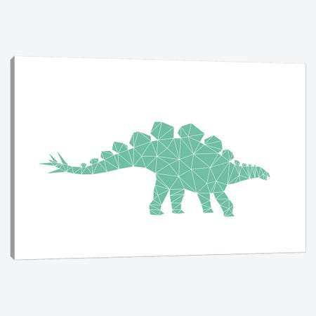 Geometric Dino Stegosaurus Canvas Print #NUV35} by Nouveau Prints Art Print