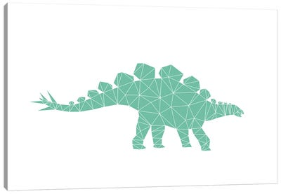 Geometric Dino Stegosaurus Canvas Art Print