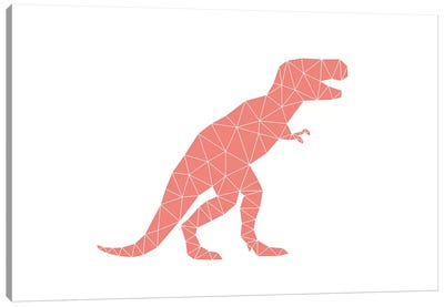 Geometric Dino T-Rex Canvas Art Print
