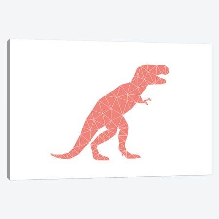 Geometric Dino T-Rex Canvas Print #NUV36} by Nouveau Prints Art Print