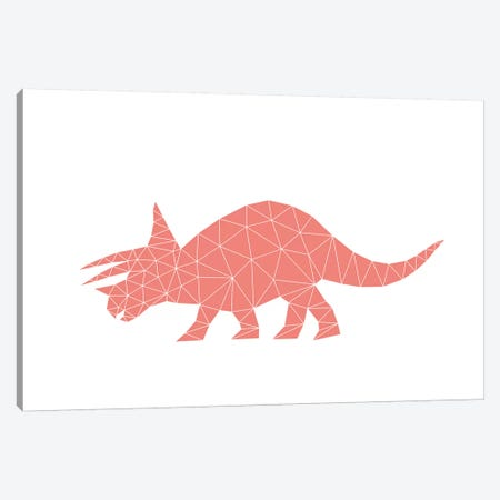 Geometric Dino Triceratops Canvas Print #NUV37} by Nouveau Prints Canvas Print