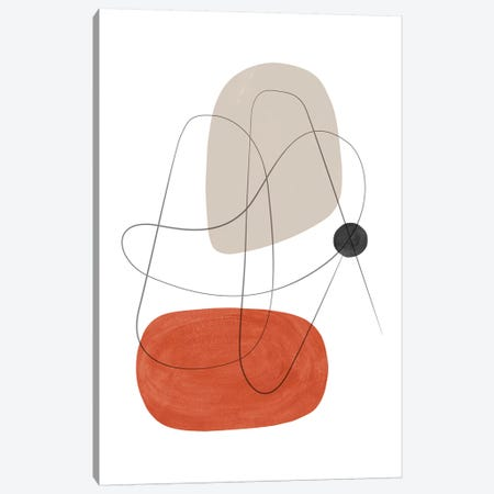 Abstract Composition With Lines III Canvas Print #NUV3} by Nouveau Prints Canvas Wall Art