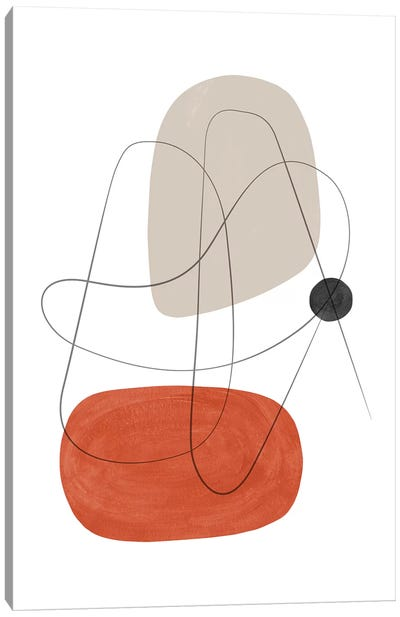 Abstract Composition With Lines III Canvas Art Print