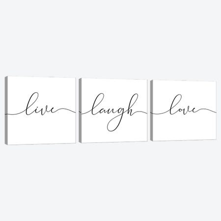 Laugh Live Love Canvas Print Set #NUV3HSET001} by Nouveau Prints Canvas Wall Art