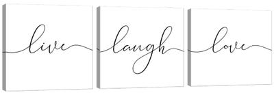 Laugh Live Love Canvas Art Print