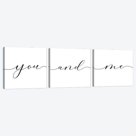 You And Me Triptych Canvas Print Set #NUV3HSET002} by Nouveau Prints Canvas Art