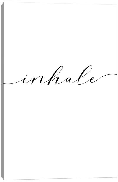 Inhale Canvas Art Print