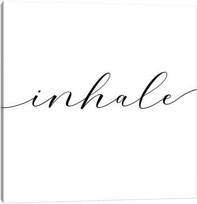 Inhale - Square Canvas Art Print