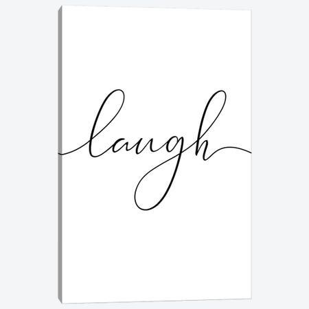 Laugh Canvas Print #NUV48} by Nouveau Prints Canvas Print