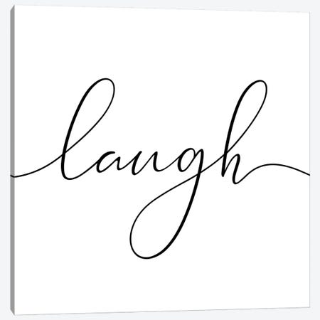 Laugh - Square Canvas Print #NUV49} by Nouveau Prints Art Print