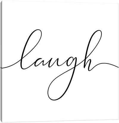 Laugh - Square Canvas Art Print