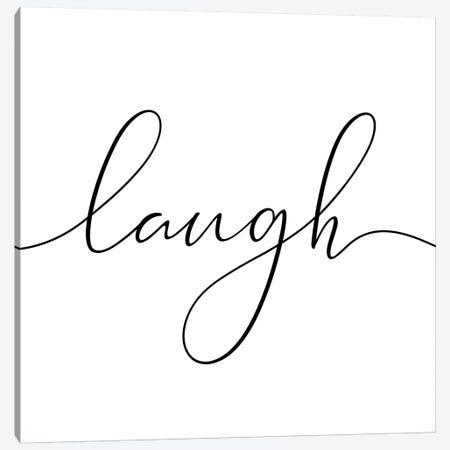 Laugh - Square Canvas Print #NUV49} by Nouveau Prints Art Print
