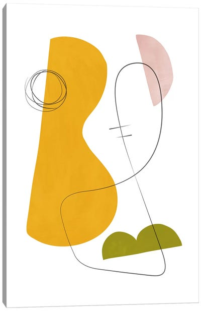 Abstract Composition With Lines IV Canvas Art Print
