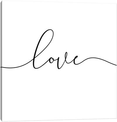 Love - Square Canvas Art Print