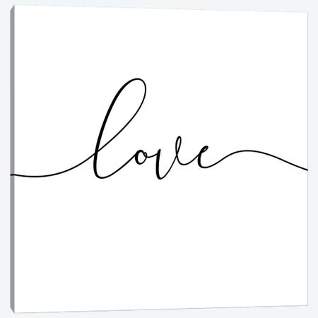 Love - Square Canvas Print #NUV53} by Nouveau Prints Canvas Wall Art