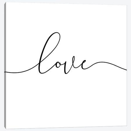 Love - Square Canvas Print #NUV53} by Nouveau Prints Canvas Wall Art