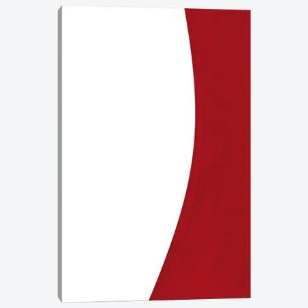 Minimal Red I Canvas Print #NUV54} by Nouveau Prints Art Print