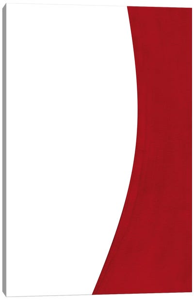Minimal Red I Canvas Art Print