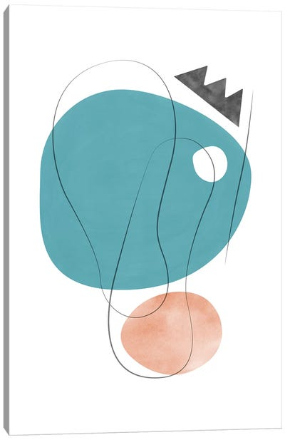 Abstract Composition With Lines V Canvas Art Print