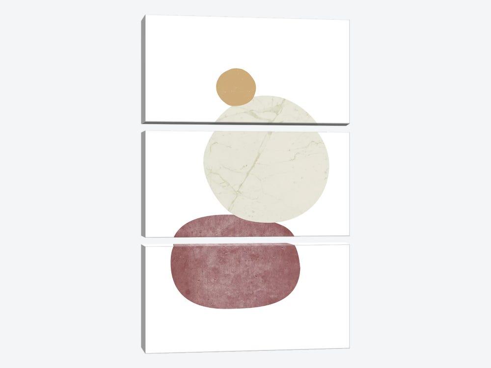 Pebbles II by Nouveau Prints 3-piece Canvas Print