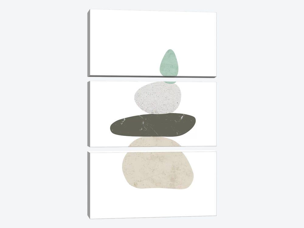 Pebbles III by Nouveau Prints 3-piece Canvas Wall Art