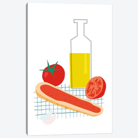 Spanish Bread With Tomato Canvas Print #NUV65} by Nouveau Prints Canvas Art