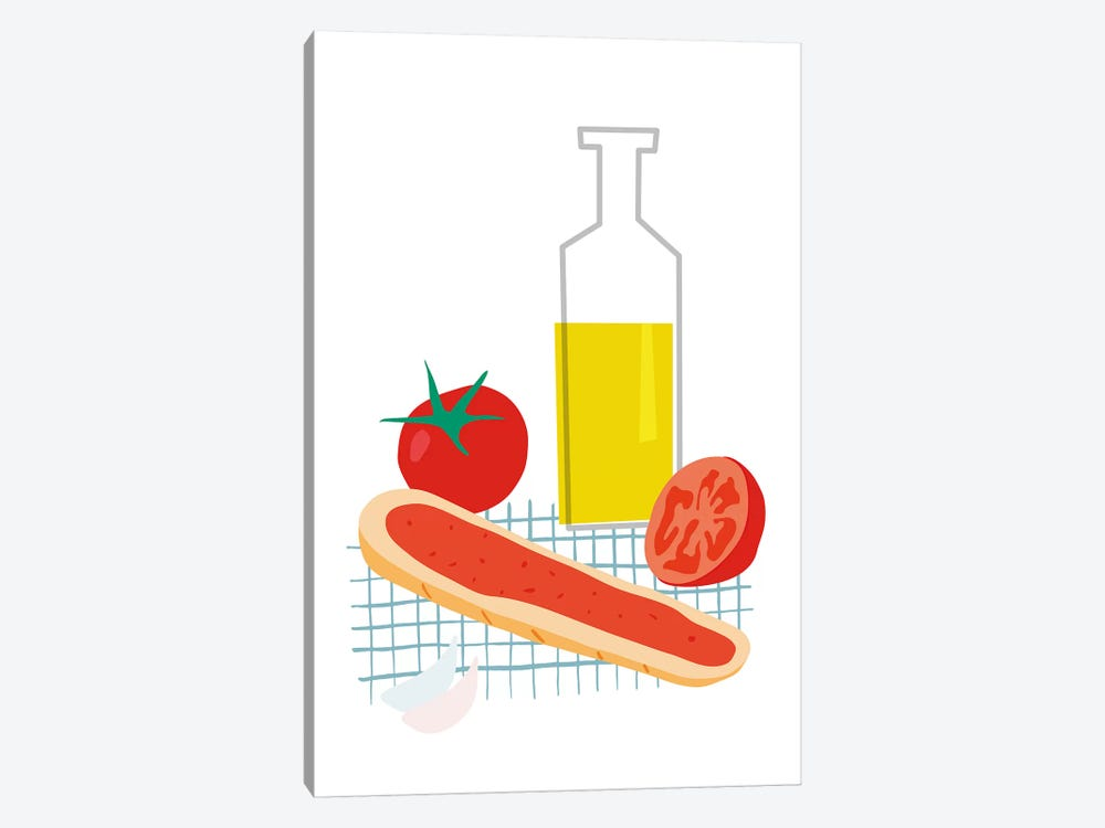 Spanish Bread With Tomato by Nouveau Prints 1-piece Canvas Print