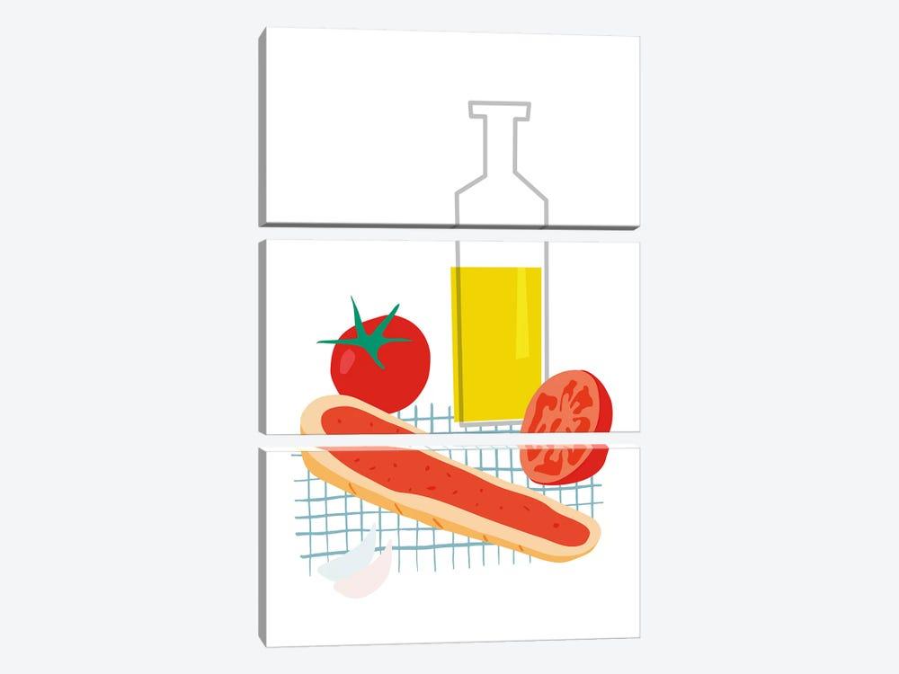 Spanish Bread With Tomato by Nouveau Prints 3-piece Canvas Art Print