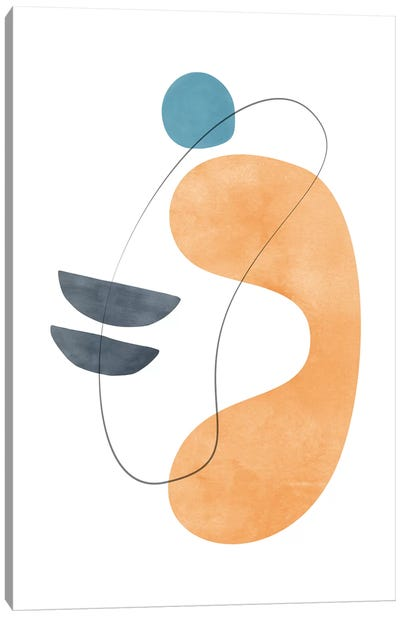 Abstract Composition With Lines VI Canvas Art Print