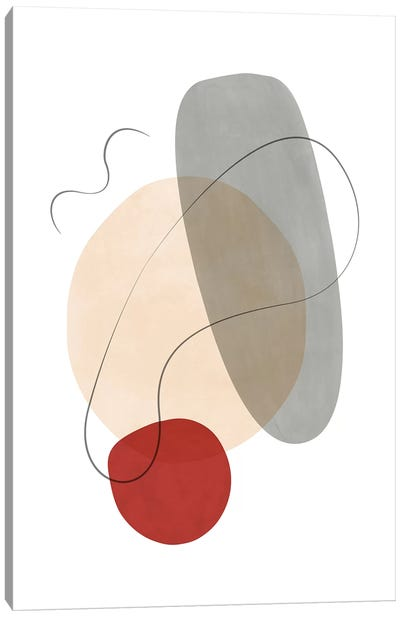Abstract Composition With Lines VII Canvas Art Print