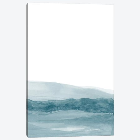 Watercolor Landscape I Teal Blue Canvas Print #NUV81} by Nouveau Prints Canvas Print