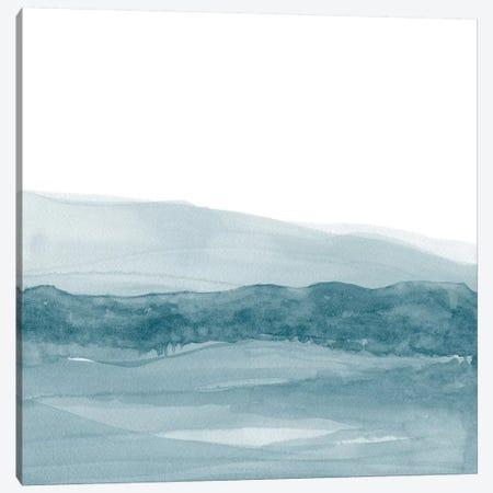 Watercolor Landscape I Teal Blue - Square Canvas Print #NUV82} by Nouveau Prints Canvas Art Print