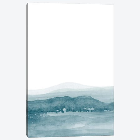 Watercolor Landscape II Teal Blue Canvas Print #NUV83} by Nouveau Prints Canvas Print