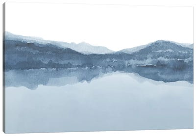 Watercolor Landscape III Shades Of Blue Canvas Art Print