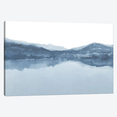 Watercolor Landscape III Shades Of Blue 3-Piece Canvas #NUV85} by Nouveau Prints Canvas Art