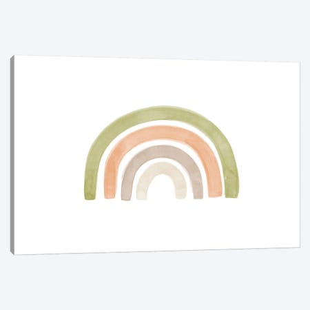 Watercolor Rainbow I Canvas Print #NUV95} by Nouveau Prints Canvas Art Print
