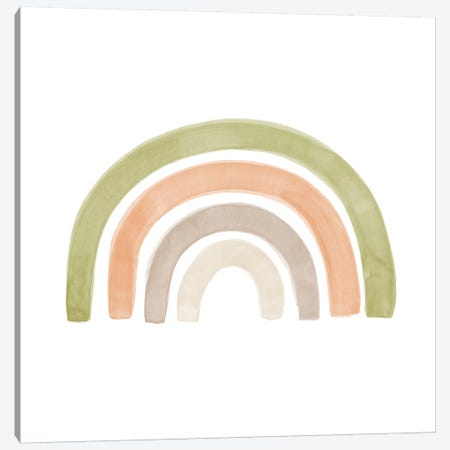 Watercolor Rainbow I - Square Canvas Print #NUV96} by Nouveau Prints Canvas Art Print