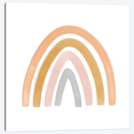 Watercolor Rainbow II - Square Canvas Print #NUV98} by Nouveau Prints Canvas Art