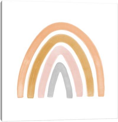 Watercolor Rainbow II - Square Canvas Art Print