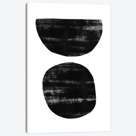 Abstraction I Black Canvas Print #NUV9} by Nouveau Prints Canvas Art