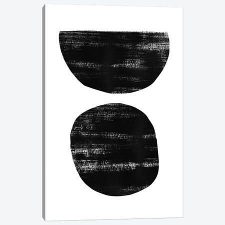 Abstraction I Black Canvas Print #NUV9} by Nouveau Prints Canvas Art