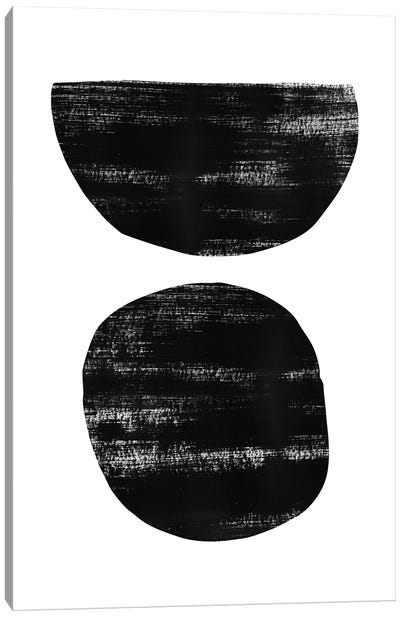Abstraction I Black Canvas Art Print