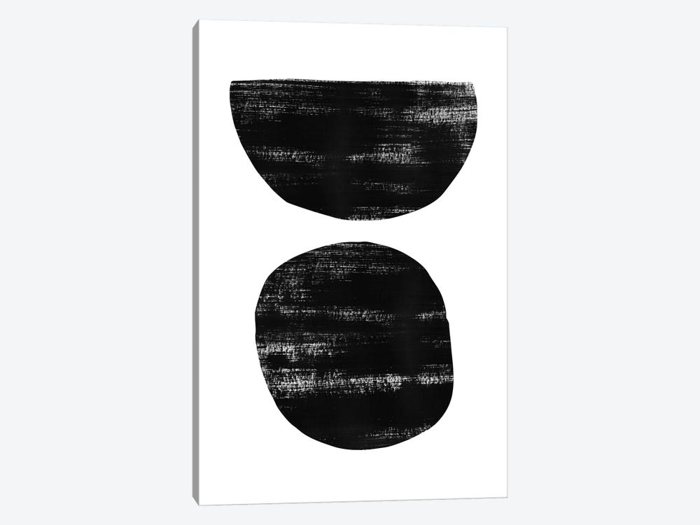 Abstraction I Black by Nouveau Prints 1-piece Canvas Wall Art