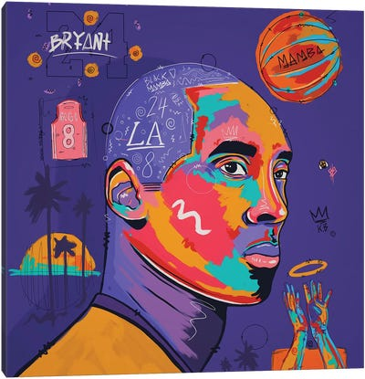 Kobe - Purple Canvas Art Print