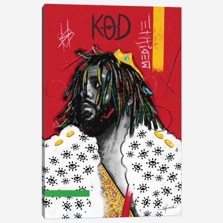 KOD - J.Cole 3-Piece Canvas #NUW14} by NUWARHOL™ Canvas Art